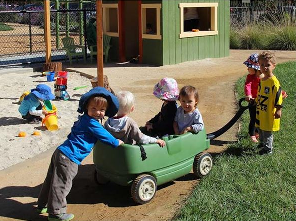 children wagon play